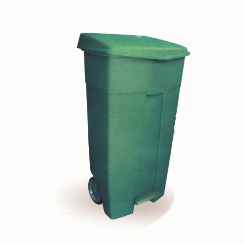 Πλαστικός κάδος με πεντάλ και ρόδες